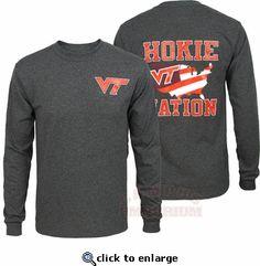 Virginia Tech Hokie Nation Long Sleeved Granite Tee