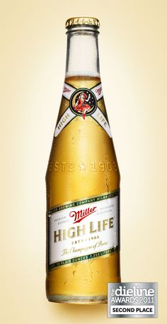 Miller High Life couldn't find it in the can, like he drank -- I remember sneaking some when they were away..  so curious about it..