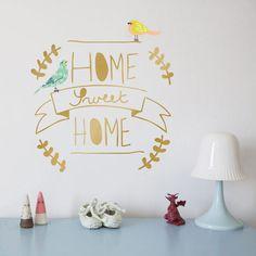 Voici un joli #sticker mural en vinyle doré modèle Home Sweet Home #mimilou