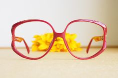 bee1ee0b5d Vintage Christian Dior Eyeglasses 1970s Glasses New Old  Stock hipster retro disco frames Oversize  Made In Germany Burgundy Tone  optyl