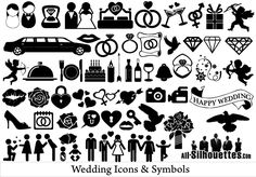 Free Vector Wedding Icons and Symbols