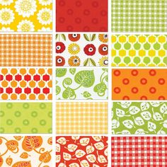 Summerhome 15 Fat Quarter Set - Kathy McGee - Red Rooster