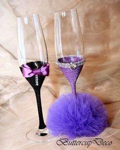 pahare personalizate handmade pentru miri si nasi   pahare nunta