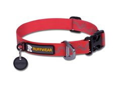 Ruffwear Headwater Collar: A reflective pattern on the collar provides visibility in low-light conditions. The coated webbing is flexible, yet waterproof and non-absorbent - solving the wet, stinky dog collar problem!