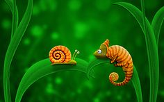 Snail and Chameleon