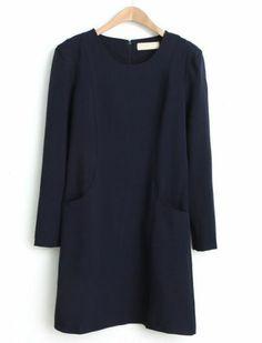 Robe avec poches au dos zippé -Noir  pictures