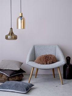 Hanglamp glas bruin - Nordic Living