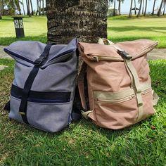 Par Issy sur Instagram: Voici les sacs à langer de compète que maman nous a cousus pour repartir à Maurice! À la base Troïka est un modèle de sac à dos ordinaire .…