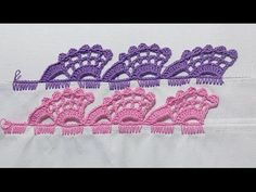Basic Embroidery Stitches Embroidery stitch for beginners - Crochet Applique Crochet Boarders, Crochet Edging Patterns, Crochet Lace Edging, Crochet Circles, Crochet Doilies, Crochet Flowers, Basic Embroidery Stitches, Crochet Stitches, Crochet Shell Stitch
