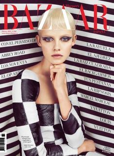 The Harper's Bazaar Spain February 2013 Issue is 60s-Inspired #fashion trendhunter.com