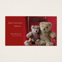 Two teddy bears in a red chair babysitter