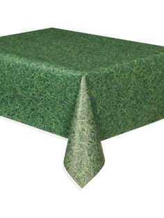 Grass Print Plastic Table Cover - Party Supplies from Birthday in a Box