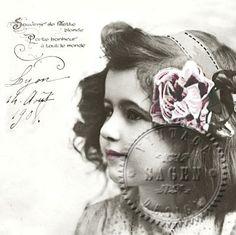 Flicka vykort - Middagsservett
