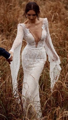 Rustic Wedding Dresses, Wedding Dress Trends, Best Wedding Dresses, Wedding Bride, Bridal Dresses, Couture Wedding Dresses, Lace Bridal Gowns, Fitted Lace Wedding Dress, Beaded Wedding Gowns