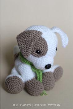 Jack Pup Amigurumi Dog amigurumi pattern by helloyellowyarn