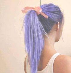 Cute hair! Love that blueish-purple color