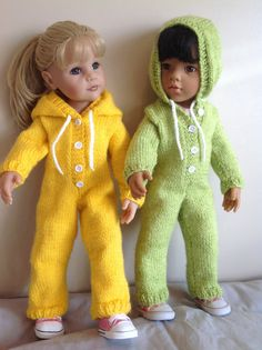 Dolls Fashion clothes knitting pattern. 18 and by KnittingNannyMo