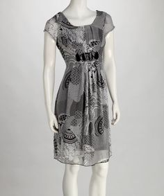 Take a look at this Gray & Black Patchwork Print Stone Dress by Phase Seven on #zulily today!