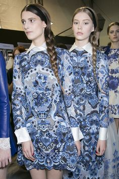 428 backstage photos of Valentino at Paris Fashion Week Fall 2013.
