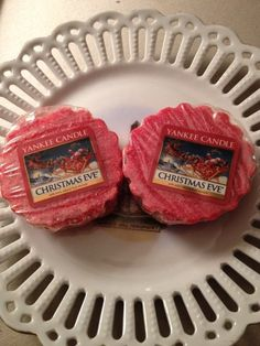 Yankee Candle Wax tart CHRISTMAS EVE-set of 2 After Christmas Sale new,unused #YankeeCandle