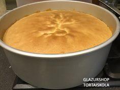27,9 cm-es magas falú formában Genovai piskóta sütve, szuper !