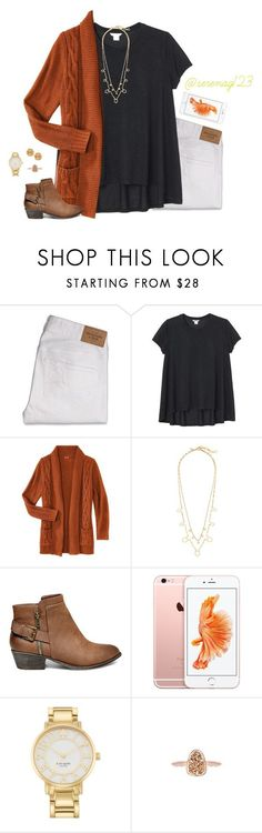 """""""falling into fall"""" by serenag123 ❤ liked on Polyvore featuring Abercrombie & Fitch, Monki, J.Crew, Steve Madden, Kate Spade, Kendra Scott and Tory Burch"""