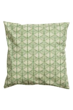 Patterned cushion cover - Green - Home All | H&M GB