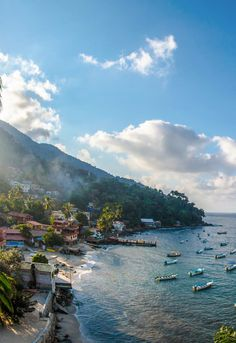 Yelapa, Mexico. We sailed here in 1975 from around the Banderas Bay's Puerto Vallarta. We spent a week getting Havørn ready to sail from México to the Marquesas Islands. At that time it was just a couple dozen palapas running up the hill. Many young people from all over the World congregated there to enjoy this little tropical paradise. It rivals those best places and times, in one's life. McC