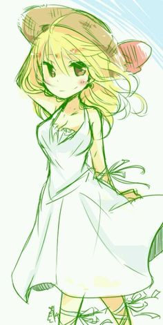 Technically it's Lucy from Fairy Tail but I'm pinning it here because I love the art style!
