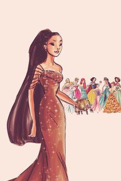 Z dziczy prosto na bal-Pokahontas #Disney #Pocahontas