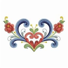 Ace Points Embroidery Design: Rosemaling Roses inches H x inches W Tole Painting, Fabric Painting, Swedish Tattoo, Machine Embroidery Designs, Hand Embroidery, Rosemaling Pattern, Norwegian Rosemaling, Scandinavian Folk Art, Paint Designs