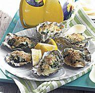 Grilled Oysters Rockefeller