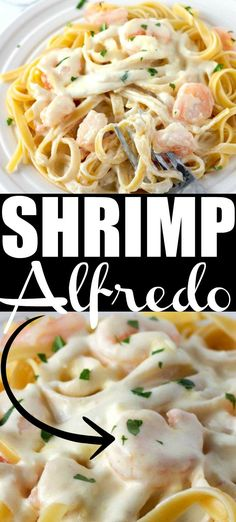 This homemade Copycat Olive Garden Alfredo Sauce recipe is out of this world add in the amazing shrimp and you have the best shrimp alfredo recipe you have ever made! alfredo sauce olive garden Shrimp Alfredo with Homemade Alfredo Shrimp Alfredo Olive Garden, Chicken And Shrimp Alfredo, Seafood Alfredo, Fettucine Alfredo, Shrimp Pasta, Garlic Shrimp, Alfredo Sauce Recipe Easy, Shrimp Alfredo Recipe, Sauce Recipes