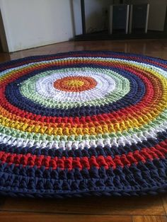 Alfombras Tejidas Crochet Con Hilo Totora (tela De Algodón) - $ 580,00 en MercadoLibre