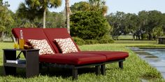 Allen + Roth Modular Slat Steel Patio Chaise Lounge C-1328-fo-1pk