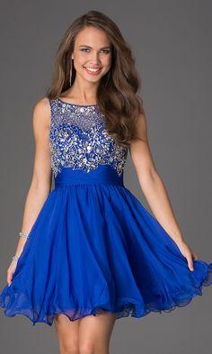 Shop blue prom dresses and navy blue homecoming dresses at PromGirl. Long blue formal dresses, royal blue dresses, blue evening gowns, dark blue prom dresses, and short blue party dresses. Short Semi Formal Dresses, Semi Dresses, Prom Dresses Blue, Dresses For Teens, Pretty Dresses, Beautiful Dresses, Short Blue Prom Dresses, Sleeveless Dresses, Dresses 2016