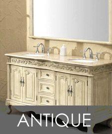 Rome antique white bathroom vanity dark counter top tile for Small bathroom design toronto