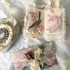 Another tiny altered tin with a micro mini journal. This is a special order for one of my very lovely customers. #vintagerose #alteredtin #minijournal #mixedmediacollage #myartwork #shabbysoul