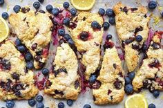 Fresh blueberry scones for breakfast. Fresh Blueberry Scones Recipe, Cinnamon Scones, Apple Cinnamon, Cinnamon Chips, Cranberry Orange Scones, Gluten Free Scones, Thing 1, Cream Tea
