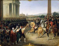Entrée de l'Armée française à Rome, le 15 février 1798, par Hippolyte Lecomte