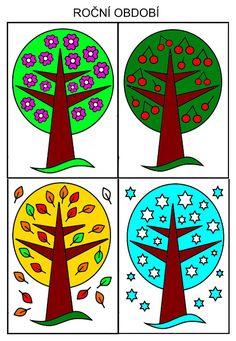 Pro Šíšu: Roční období Preschool, Playing Cards, Seasons, Teaching, Halloween, Kid Garden, Playing Card Games, Seasons Of The Year, Kindergarten