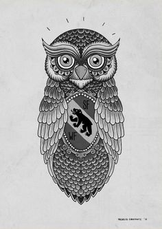 The Owl. A tattoo design for my brother