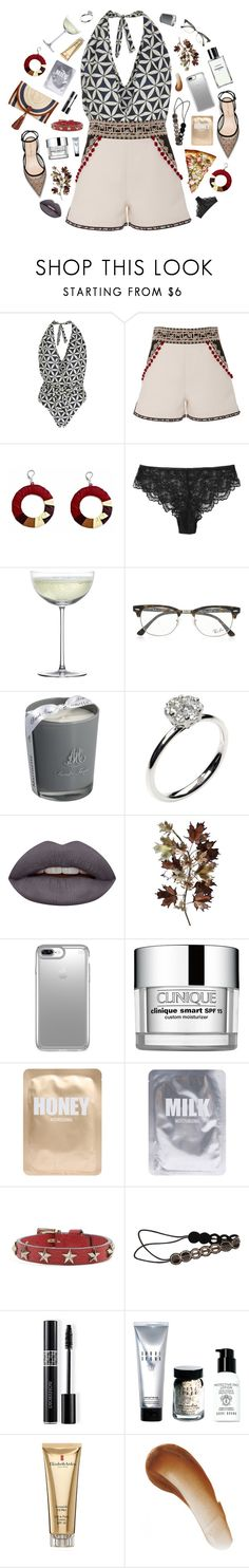 """Birthday, Kings of Leon"" by blendasantos ❤ liked on Polyvore featuring Lenny, Talitha, Crate and Barrel, Ray-Ban, Marinette Saint-Tropez, Annoushka, Huda Beauty, C. Jeré, Speck and Clinique"