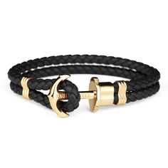 Anchor Bracelet PHREP IP Gold Black