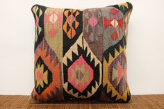 Traditional Kilim pillow cover 20 x 20 Hand by kilimwarehouse, $62.00