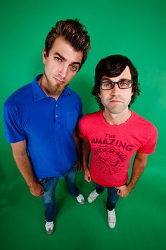 Rhett and Link. Hopefully I'm not the only one that thinks link is attractive <3