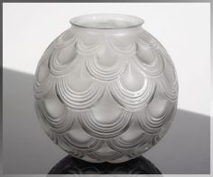 Avesn For Daum Signed 1920s French Art Deco High Style Glass Vase