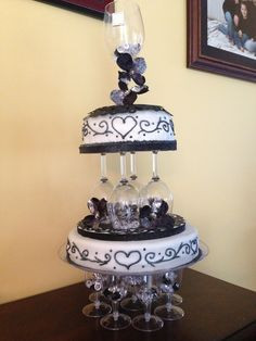 Wine party/ engagement party cake