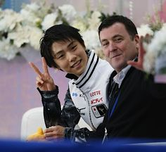Hanyu Yuzuru & Brian Orser (coach)