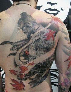 Samurai tattoo on ba